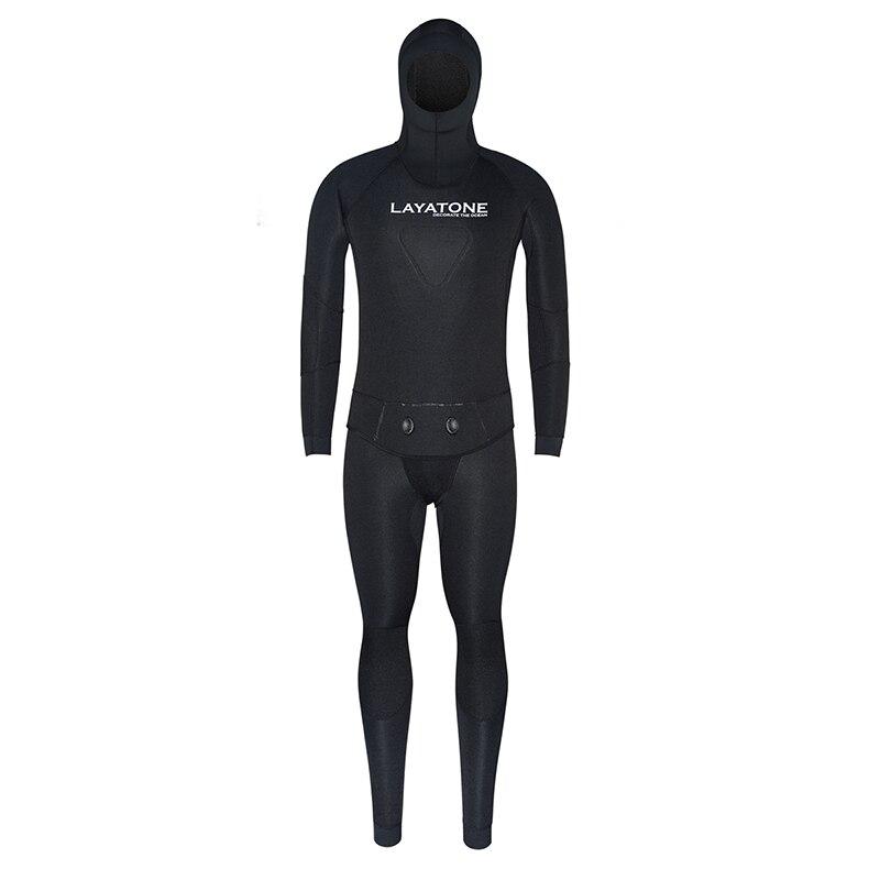 7mm neopreno pesca submarina cuerpo completo de dos piezas con chaleco para hombres caza pesca submarina buceo natación trajes