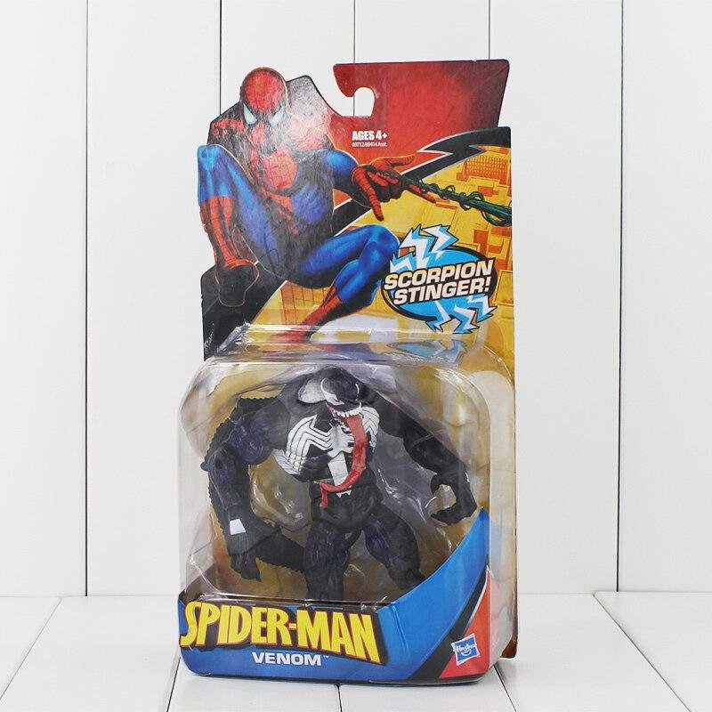 "6"" 15cm Marvel Universe The Avengers <font><b>Spider-Man</b></font> Spiderman <font><b>Classic</b></font> Heroes Venom With Scorpion Stinger PVC Action Figure Gift Kids"