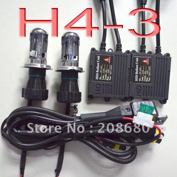 H4-3 H/L Hi/Low one xenon moving bulb HID xenon KIT SET 35W (Bi-xenon hid conversion kit) Freeshipping by China post hot sale high quality auto xenon hid conversion kit 12v 35w h4 hi low dual beam 10000k freeshipping