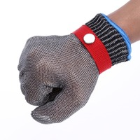 Safety Cut Proof Stab Resistant Work Gloves Stainless Steel Wire Safety Gloves Cut Metal Mesh Butcher Anti-cutting Work Gloves.