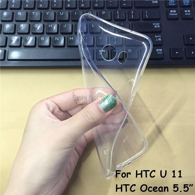Новый тонкий кристалл прозрачный мягкой ТПУ задняя крышка защиты кожи для HTC u 11 u11/HTC Ocean 5.5