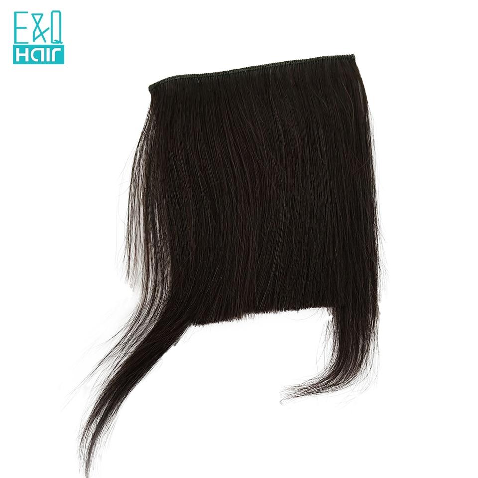 Haarverlängerung Und Perücken Bangs Isheeny Schwarz Braun Remy Fringe Clip In Menschliches Haar Pony 10g Natürliche Dünne Clip Pony Stück