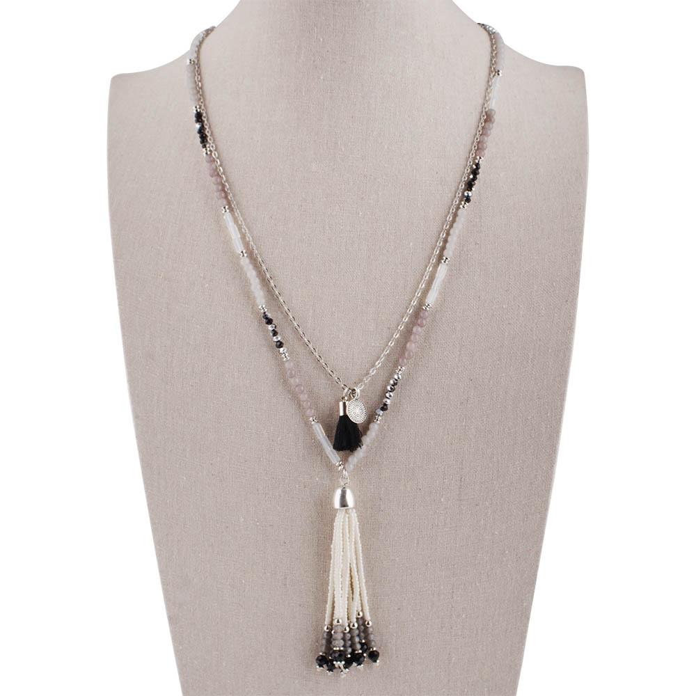 Partnerbeads Bohemian Multi-Color Tassel Necklace Women Ethnic Collier Jewelry Beads Chain Statement Necklaces & pendants TA3093