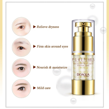 BIOAQUA Pearls Eye Cream Anti-Aging Anti Puffiness Eye Care Essence Cream For Remover Dark Circle Whitening Firming Skin Care