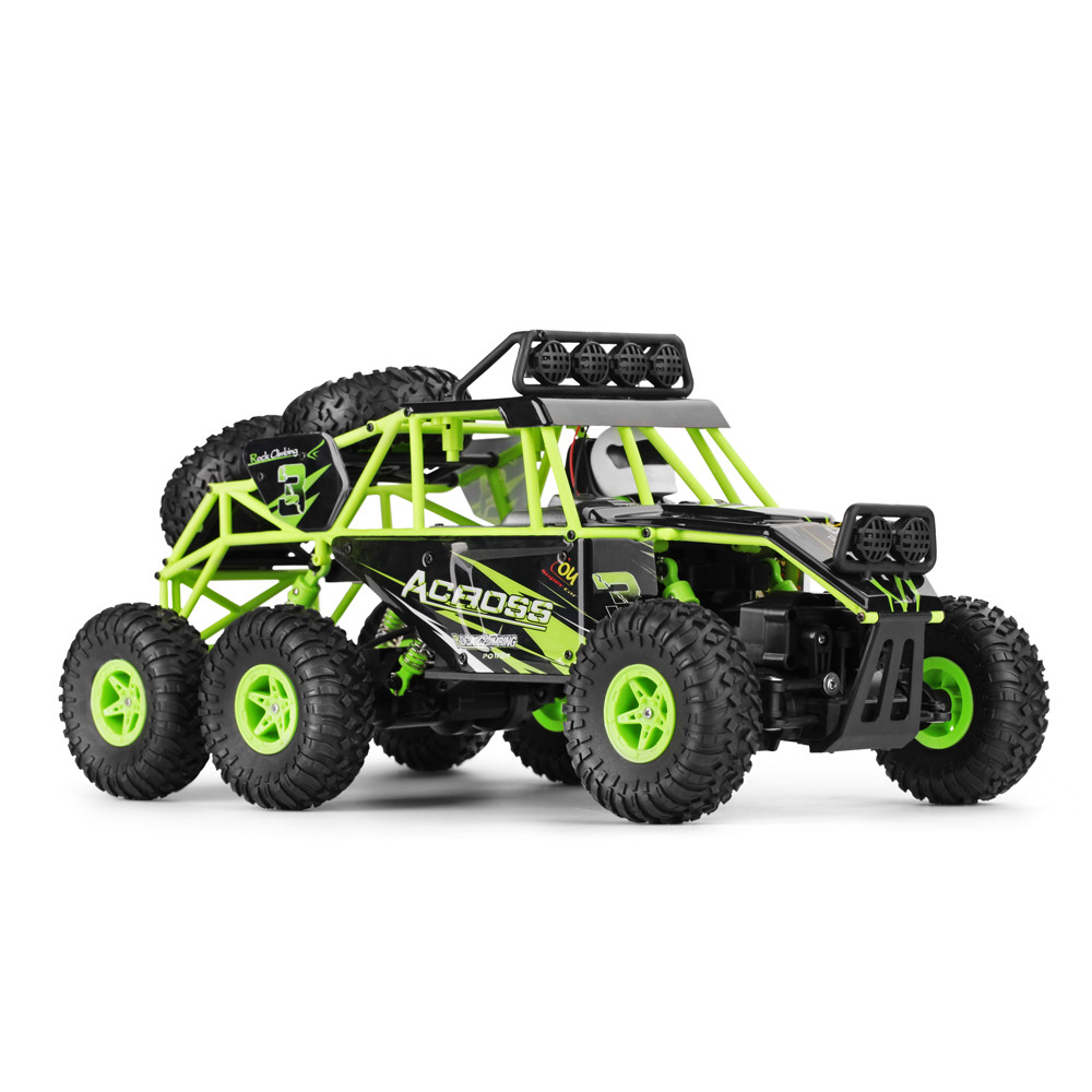 1/18 2.4GHZ 6WD Radio Machine Remote Control Off Road RC Car ATV Buggy RC Climbing Monster Truck With Cool LED lights OC30b remote control 1 32 detachable rc trailer truck toy with light and sounds car
