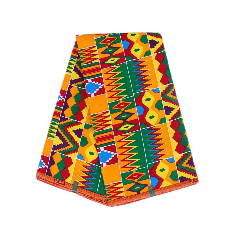 6 yard/set bas 100% coton tissu Batik impression africaine ankara tissu ankara africain cire impression tissu satin robe