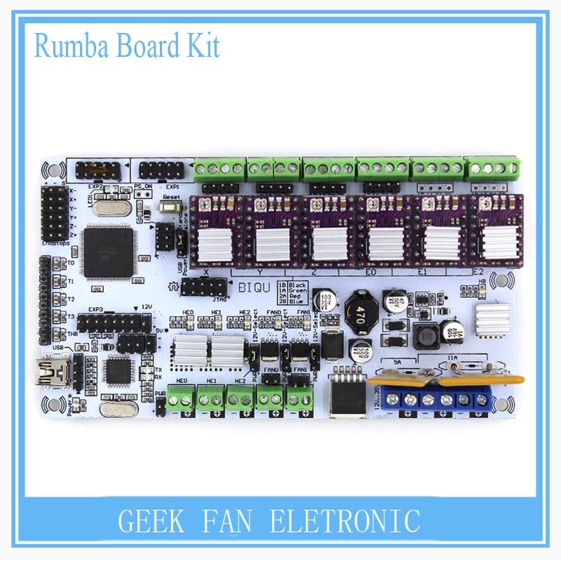For 3D printer BIQU rumba motherboard MPU / 3D printer accessories RUMBA optimized version control Board with DRV8825
