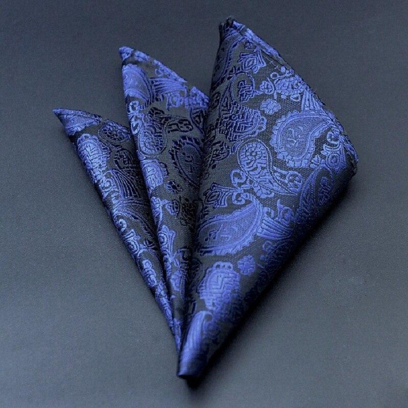 2020 Fashion Handkerchief Printed Dot Plaid Pocket Square For Men Suits Wedding Party Hankies Mouchoir Homme