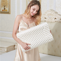 FLC, 50x30cm Natural Latex Pillow Sleeping Bedding Cervical Massage Pillow Health Neck Bonded Head Care Memory Pillow 40