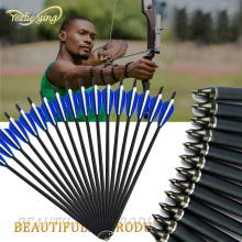 6/12/24/48pcs 16inch Crossbow Bolt Carbon Arrow For Crossbow, Blue And White Feathers, Replaceable Arrows, High Quality
