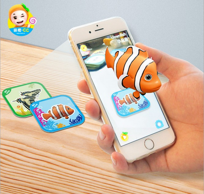 100PCS 3D Stereo Card Toys Bilingual Augmented Reality Play Early Learning Educational Pocket Pocket Animal Zoo Kids Toys
