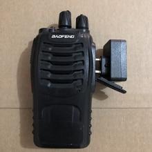 Baofeng bluetooth walkie talkie fone de ouvido k cabeça sem fio bluetooth ptt fone de ouvido adaptador para baofeng kenwood microfone
