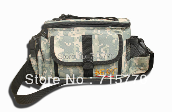 Jungle Camouflage Color Fishing Tackle Bags 23 * 11 * 16