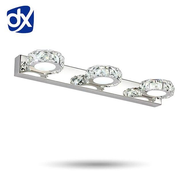 Long LED Crystal Mirror Light CMCM AC V Modern Crystal - Bling bathroom lighting