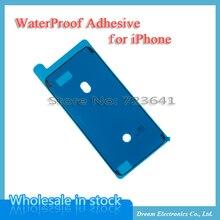 50pcs Wasserdichte Klebstoff Aufkleber Für iPhone 8 7 6S Plus X XR XS 11 12 Pro Max Pre Cut Kleber Front Gehäuse Screen LCD Rahmen Band
