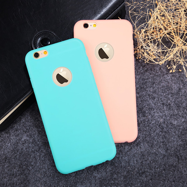 2c87063a5a6 Moda Color caramelo suave TPU Silicon funda para Apple iPhone X 10 8 7 6 6