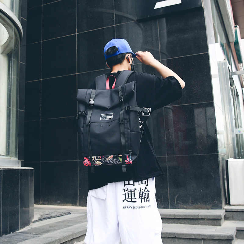 Модный двойной рюкзак для мужчины и женщины модный Оксфордский тканевый рюкзак для отдыха Уникальный большой рюкзак с принтом