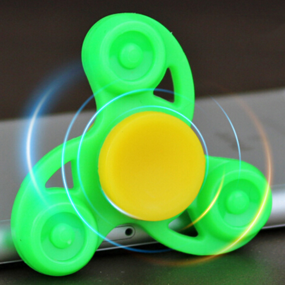 NEW Triangle Gyro Finger Spinner Fidget Plastic EDC Hand For Autism/ADHD Anxiety Stress Relief Focus Toys Gift  Multi Color