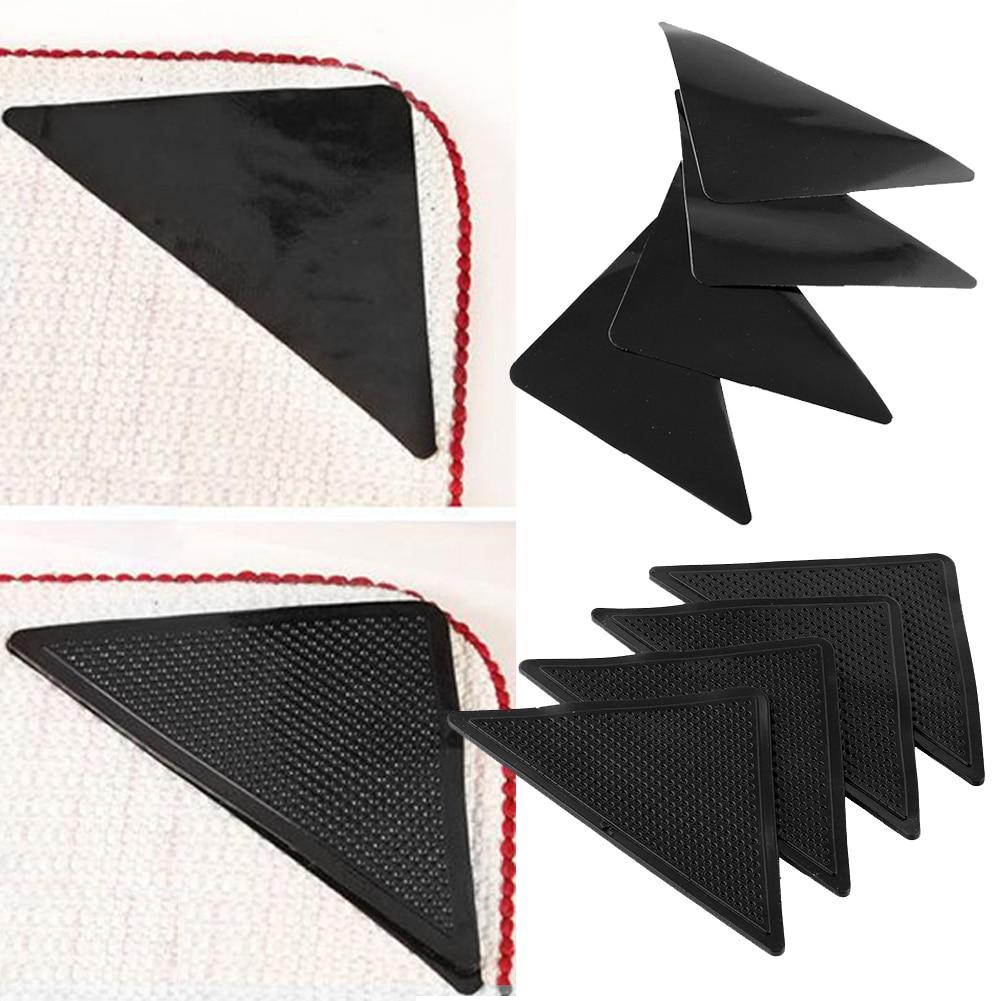 New 4pcs Ruggies Rug Carpet Mat Grippers Non Slip Grip Corners Pad Anti Skid Reusable Washable