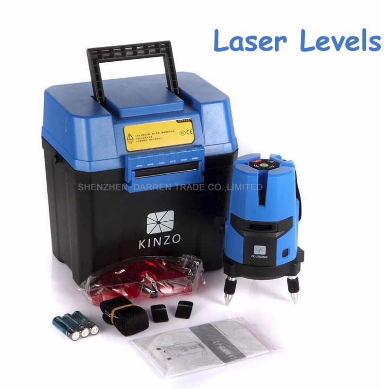 1pc Laser Cast Line Machine Multifunction Laser Line Cross Line Laser Rotary Laser Level 360 Selfing Leveling 5 Line 4V1H3 Point laser cast line instrument marking device 5 lines the laser level