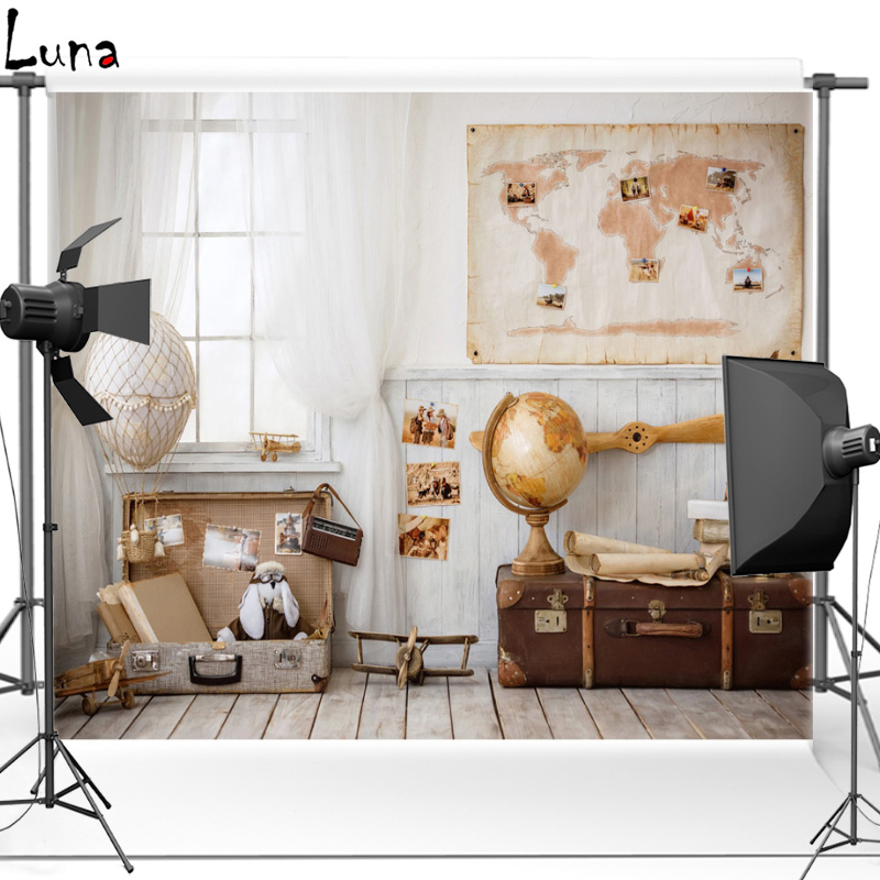 MEHOFOTO Indoor Vinyl Photography Background For Kids Map Wall New Fabric Flannel Backdrop For Children photo studio Props 2625 in Background from Consumer Electronics