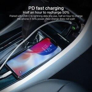 Image 3 - PZOZ PD Autolader 18W 36W Dual USB opladen Telefoon Adapter Auto Snel Opladen 3.0 Voor iPhone X 8 Plus Samsung Xiaomi auto oplader