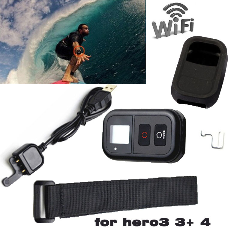GoPro Wifi Remote Control 0 8 LCD Wi Fi font b Smart b font Remote Controller