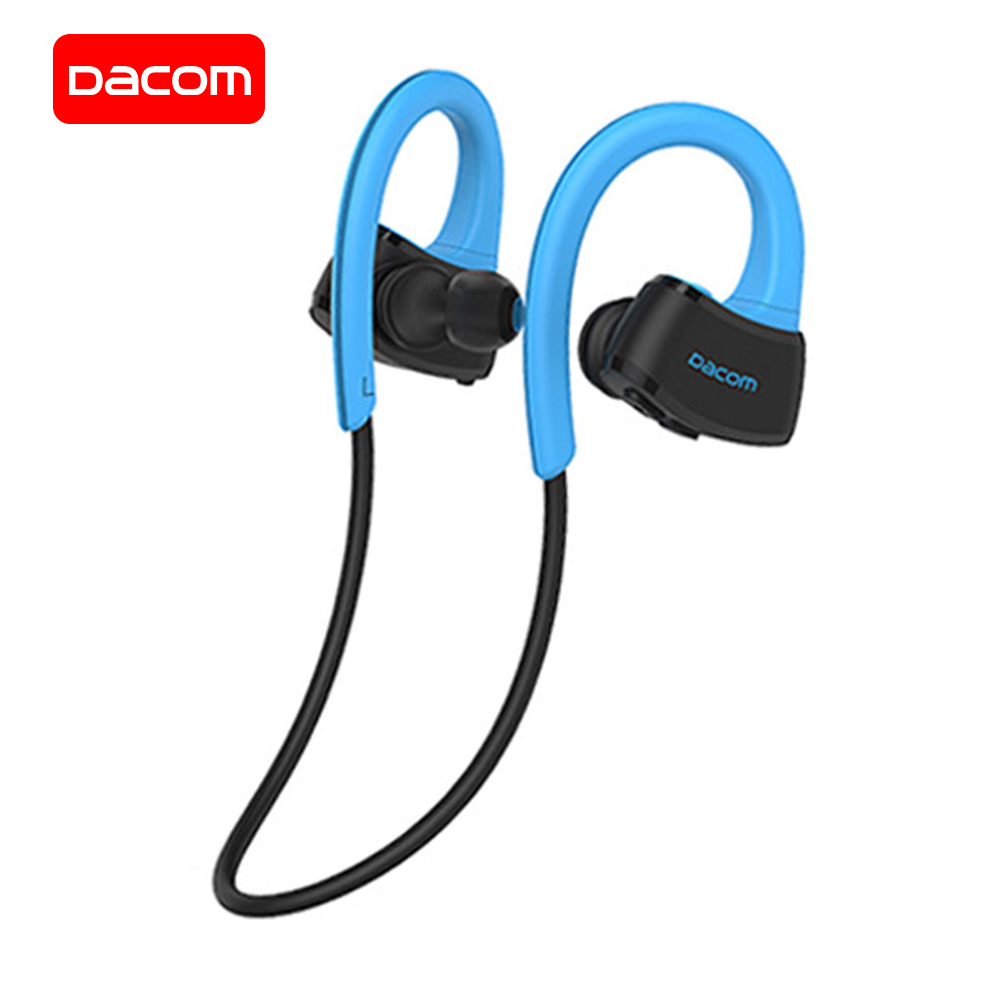 DACOM Built-in MP3 Bluetooth Headphones Sports Wireless Headset IPX7 Waterproof Stereo Sports Earphone for Samsung iPhone Xiaomi dacom l15 wireless headphones sports bluetooth earphone 5 0 stereo ipx5 waterproof running headset 10h music for iphone samsung