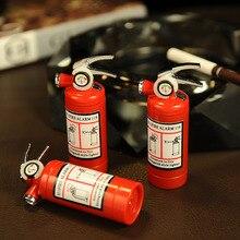Isqueiro de gás butano de luz led, criativo, compacto, isqueiro de gás butano, extintor de incêndio, barra de metal, brinquedos engraçados