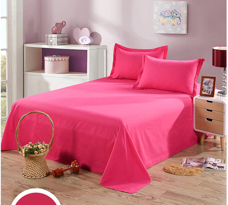 single double bed solid style bedding sheet environmental friendly twin full queen king size. Black Bedroom Furniture Sets. Home Design Ideas