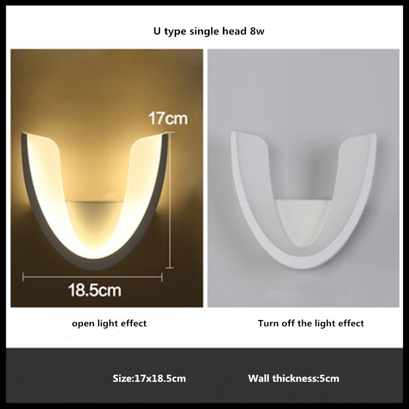 Modern Led Wall Lamp 8W 16W Wall Sconces Indoor Stair Light Fixture Bedroom Bedside Living Room Home Hallway Wall Light fashion rustic iron bedroom bedside wall light fixture home deco living room e27 wall lamp european vintage glass wall sconces