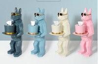 Ins скандинавские креативные бумажные полотенца коробка, машина собака аксессуары, туалет камуфляж бумажные полотенца стойки, коробка украш