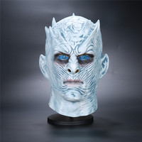 New Game of Thrones Cosplay Night's King Mask Walker Face Night Re Zombie Mask Halloween Adults Throne Costume Full Head Mask