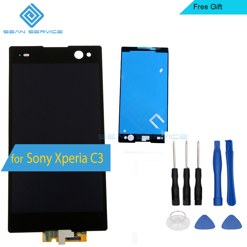ФОТО For Sony Xperia C3 LCD Display and Touch Screen Digitizer Assembly lcds for Sony Xperia C3 D2533 D2502 Mobile Phone +Tools