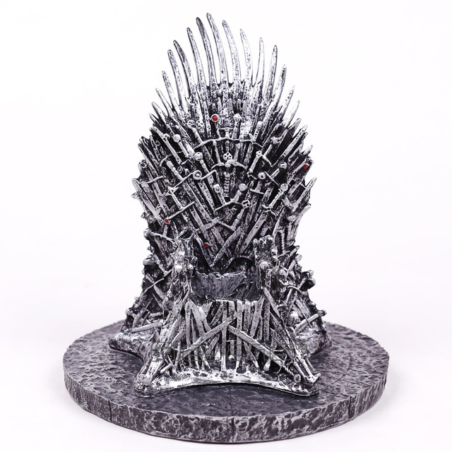 iron throne chair cover heavy duty gas lift the desk statue sword pvc figure collectible model movie tv toy gift 16cm