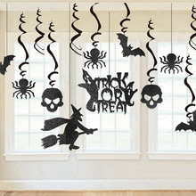 Pack Of 13pcs Halloween Decorations Hanging Swirls With Witches Bats Ghost Skeletons Spiders For Party