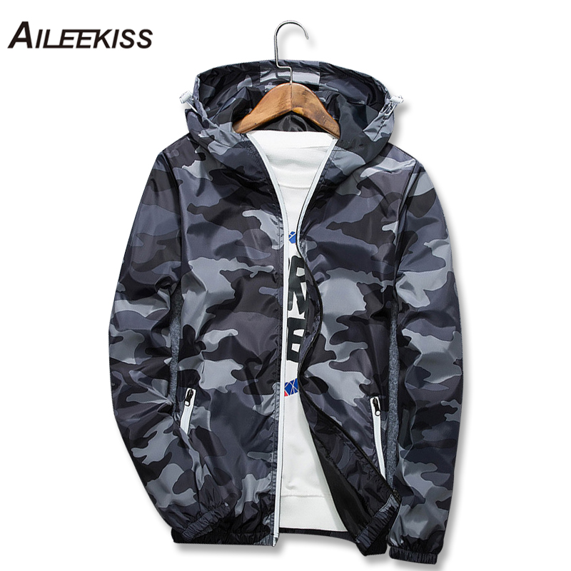 2018 New Brand Camouflage Jackets Men Spring Camo Hooded Luminous Jacket Military Streetwear Zipper College Coat M-5XL Man XT669