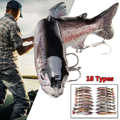 18CM Fishing Lure Artificial Bait Muskellunge Muskie Musky Pike Lure Bait Swimbait Hard Jerk Bait Jointed Life-like