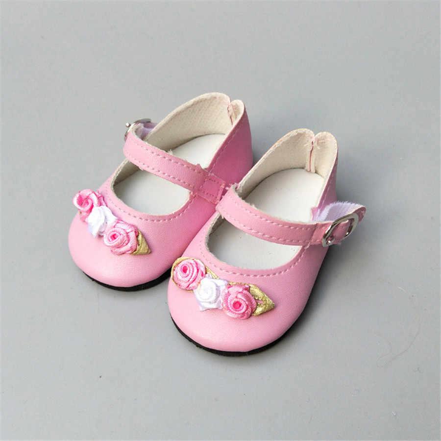 Nuevos zapatos de muñeca a la moda para 18 pulgadas generación muñeca americana Diy zapatos de muñeca con Rose 43cm Born Baby Dolls zapatos envío gratis