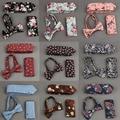 Mens Bowtie Corbata y Pañuelo Hanky Tie Establece Algodón de la Impresión Floral Establece Bolsillo Cuadrado Ocasional Visita de La Boda corbata de Lazo