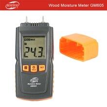BENETECH цифровой измеритель влажности древесины измеритель влажности детектор влажности древесины гигрометр два контакта GM605