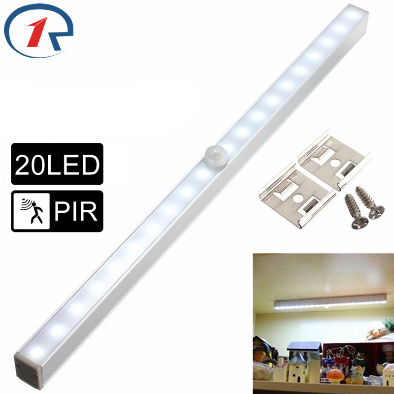 ZjRight NEW Energy Saving Auto Motion Sensor 20 LED Light Wireless PIR Cabinet Kitchen Bedroom Wardrobe Indoor Stair Night Light