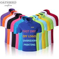 Polo de manga corta con bordado personalizado/impresión de marca de bricolaje básico para hombre collar de camisas