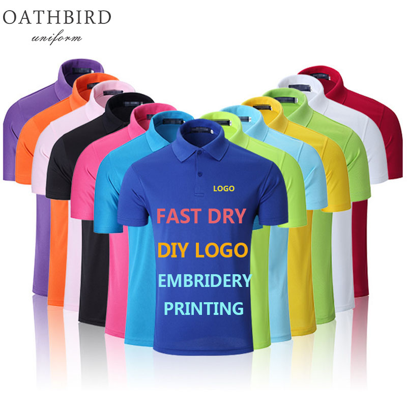 Custom Embroidery/Printing DIY Brand basic <font><b>Men's</b></font> <font><b>dry</b></font> fit <font><b>Polo</b></font> <font><b>Shirt</b></font> Personalized Your Logo <font><b>Men</b></font> Short Sleeve <font><b>polo</b></font> collar <font><b>shirts</b></font> image
