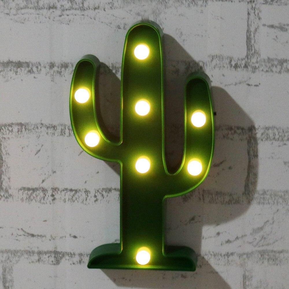 Adeeing 3D Söt Kaktus Ljuslampa LED Dekorativ Baby Nattlampa Dim - Nattlampor - Foto 3