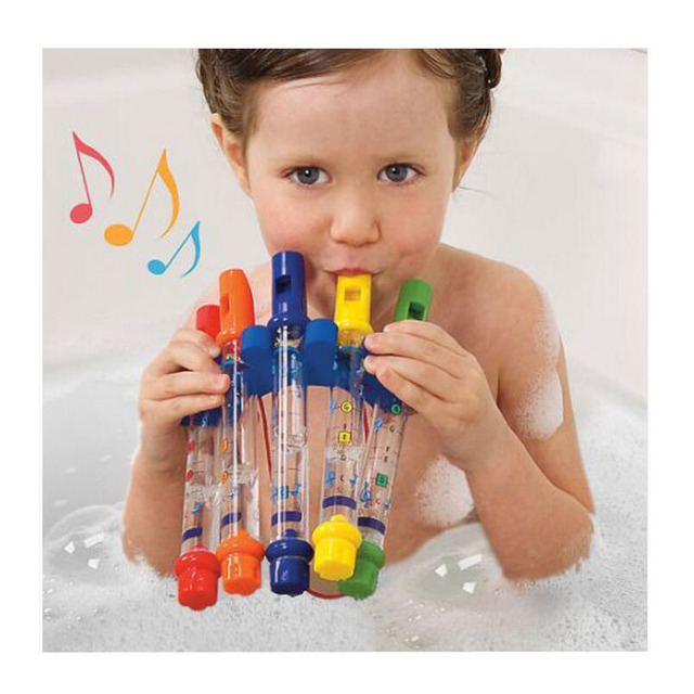 5pcs 1 Water Flute Toy Kids Children Colorful Water Flutes