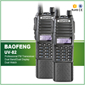 New Arrival 2PCS/LOT Original 5W Dual Band Long Battery Double PTT Baofeng UV-82 Two Way Radio