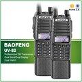 Nueva llegada 2 unids/lote original de 5 w dual band baofeng uv-82 batería de larga doble ptt de radio de dos vías