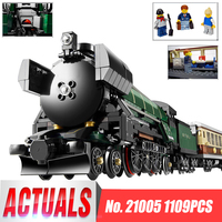 LEPIN 21005 Series The Emerald Night Model Building Blocks Set Classic Educational Toys Compatible Steam Trains