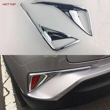 2 ШТ. ABS Внешний Задний Противотуманный Фонарь Крышка Лампы Накладка Для Toyota C-HR CHR 2016-2017